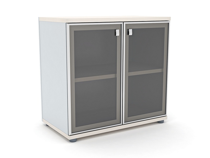 Шкаф со стеклом в алюминиевом профиле barcelona-mebel.ru.